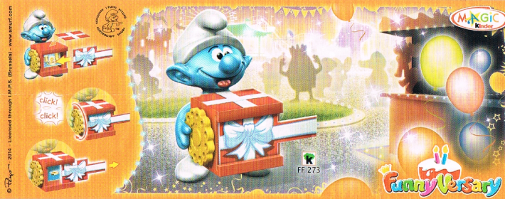 kinder magic smurfs2014 gb